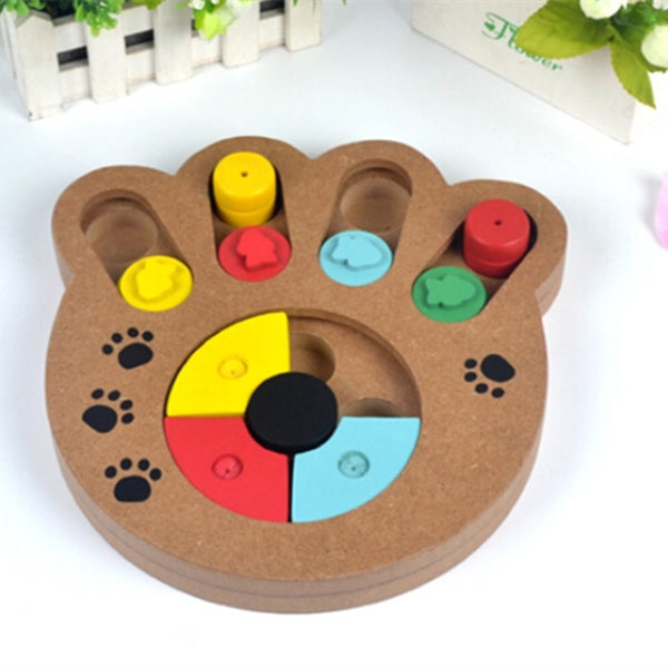 Interactive Wooden Dog Toy