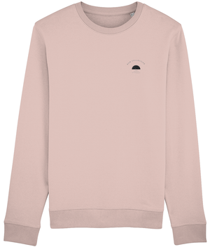 RISE SWEATSHIRT - HEATHER GREY // HEATHER PINK - KGM COLLECTIVE
