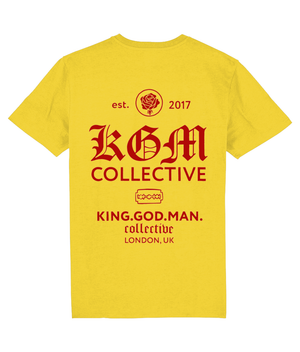 STREET T-SHIRT - VINTAGE WHITE // BLACK  // YELLOW - KGM COLLECTIVE