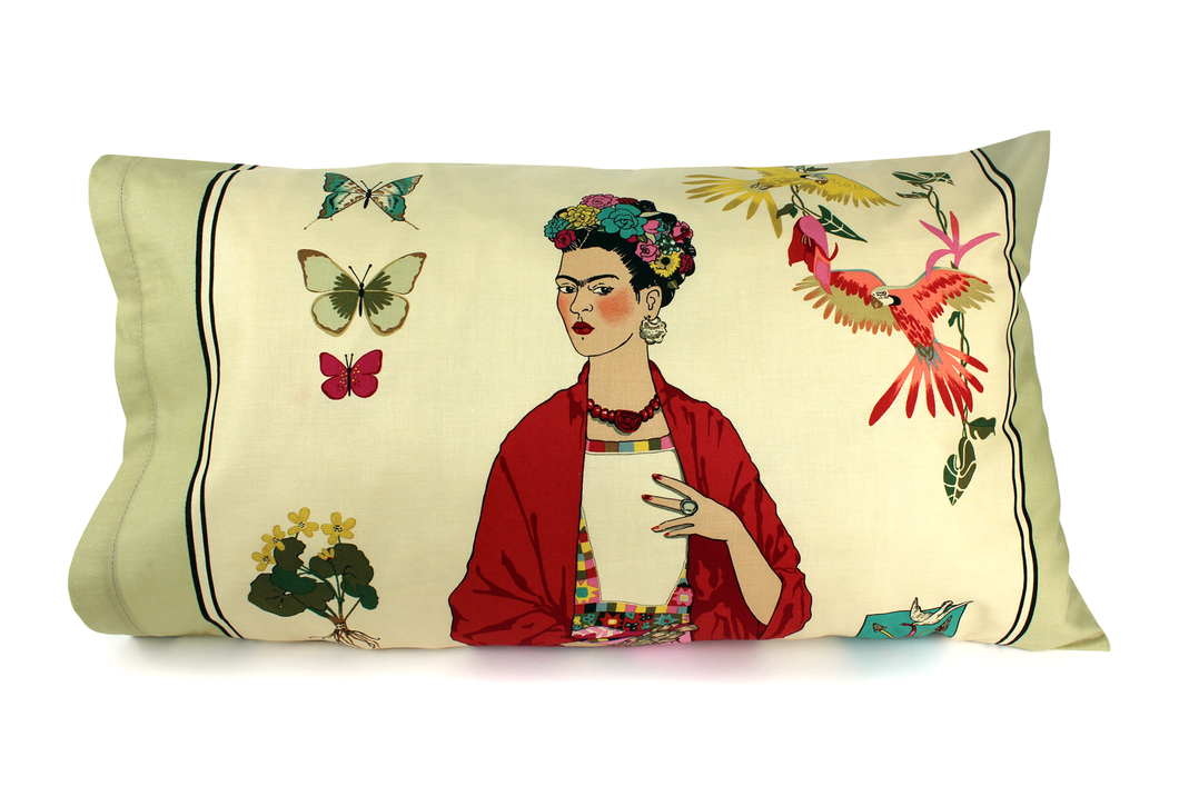 Frida Pillow Cases Teal or Tan 25 x 16 in. #FPC