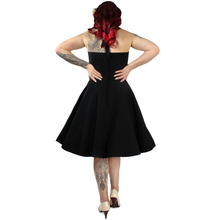 Load image into Gallery viewer, Model wearing dress, Pictured from the back