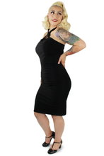 Load image into Gallery viewer, Model wearing dress, Pictured from the side