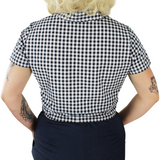 Black and White Gingham Knot Top XS-4XL #BWGK