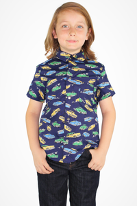 Boy's Blue Cruise Control Top - Cars Top