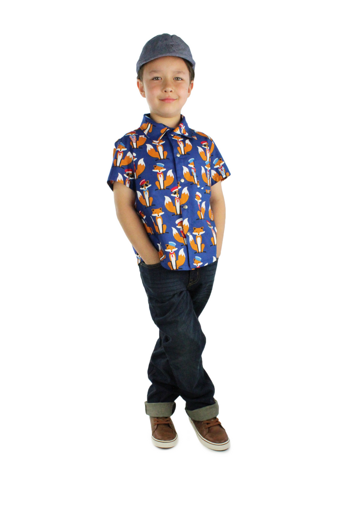 So Foxy! Boy's Snap Top #BTF-603
