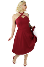 Load image into Gallery viewer, Burgundy Criss Cross Halter Dress XS-3XL #CCBD