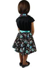Load image into Gallery viewer, Day of the Dead Cat Dress