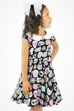 Load image into Gallery viewer, Cute Critters Skulls Dress - Trick or Treat/Day of the Dead Dress