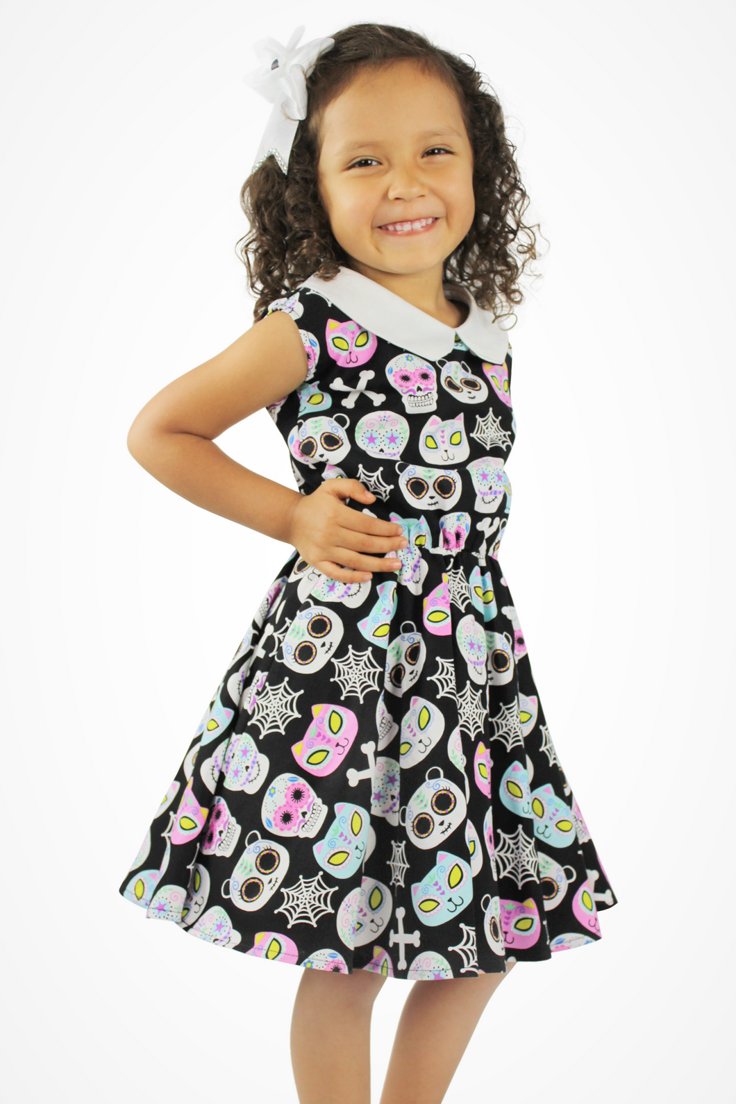 Cute Critters Skulls Dress - Trick or Treat/Day of the Dead Dress