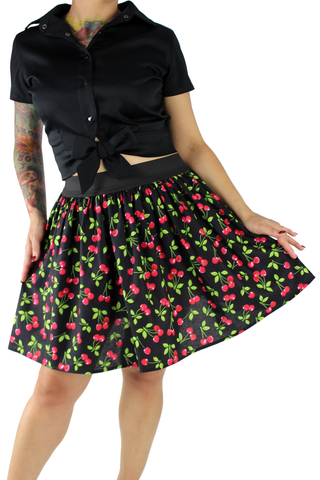Sweet Cherry Elastic Skirt XS-4XL #PS-C25