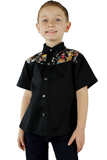 Boy's Dancing Skeletons Western Top #BDSWT