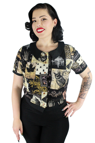 Edgar Allan Poe Top With Snaps XS-3XL #EAPT-1950