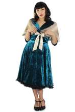 Load image into Gallery viewer, Holiday Green Velvet Circle Dress #GVCD
