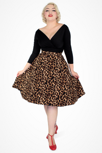 Flowy Leopard Skirt With Pockets XS-3XL #LCS