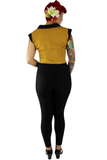 Mustard Yellow Bowler Top XS-3XL #MYBT