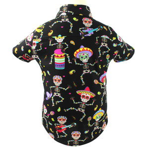 Boy's Festive Fiesta Top - Day of the Dead Colorful Top #BFT