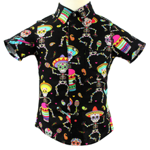 Load image into Gallery viewer, Boy's Festive Fiesta Top - Day of the Dead Colorful Top #BFT