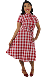 Red and White Plaid Circle Skirt #RWPCS