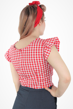 Load image into Gallery viewer, Gingham Top - Red XS-3XL #GTR