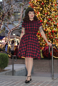 Judy in Red Plaid Dress