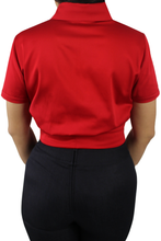 Load image into Gallery viewer, Close up, Back of the top, All red material, Solid red