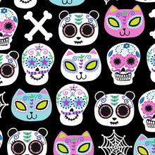 Load image into Gallery viewer, Cute Critters Skulls Dress Fabric