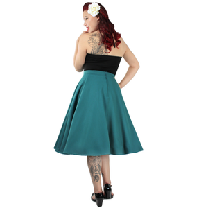 Flowy Teal Skirt With Pockets #FST