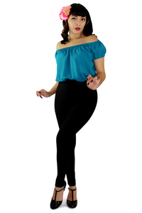 Off The Shoulder Teal Top XS-3X #OTT