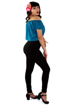 Load image into Gallery viewer, Off The Shoulder Teal Top XS-3X #OTT