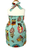 Girl's Frida Dress In Teal #FDT