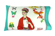 Load image into Gallery viewer, Frida Pillow Cases Teal or Tan 25 x 16 in. #FPC