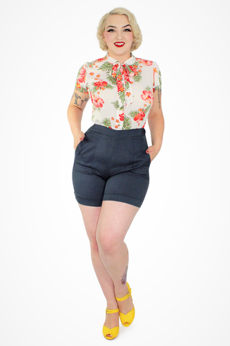 Floral Tropical Top - White XS-3XL #FTW