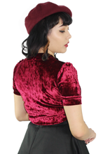 Load image into Gallery viewer, Burgundy Velvet Top #BGVT