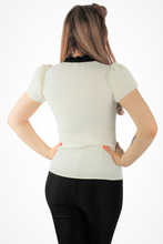 Load image into Gallery viewer, Tie-Neck Blouse - Off White XS-3XL #WTNT