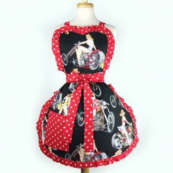Motorcycles and Pin-Up Girls Apron Item #A941