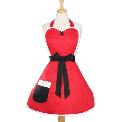 Mrs. Santa Claus Holiday Retro Apron on mannequin