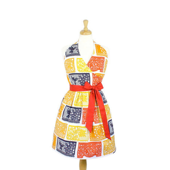 Papel Picado Halter Dress #H-PD801