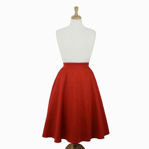 Rustic Red Full Circle Skirt #FS-R633