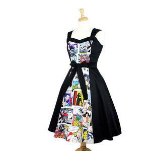 Comic  Full Circle Swing  Vintage Inspired Dress  White #DSCF4335W