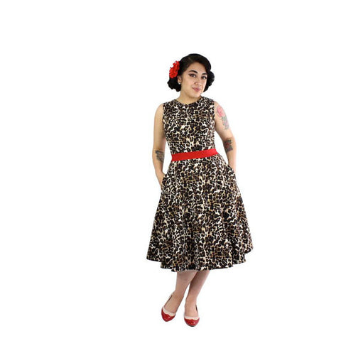 Audrey Leopard Full Circle Holiday Dress #DSCF4394