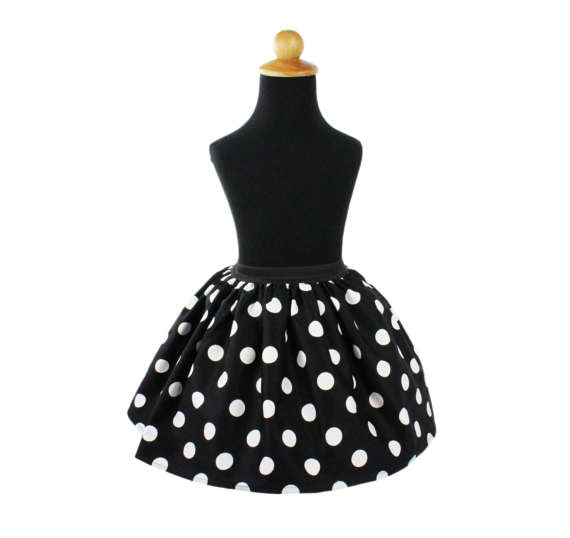 Girl's Classic Large Polka Dots Skirt #GS-BP