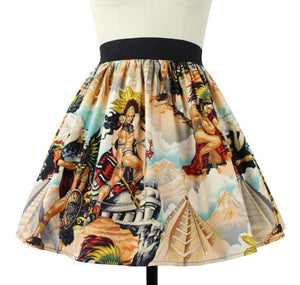 Skirt on mannequin, Pictured from the front, Close up