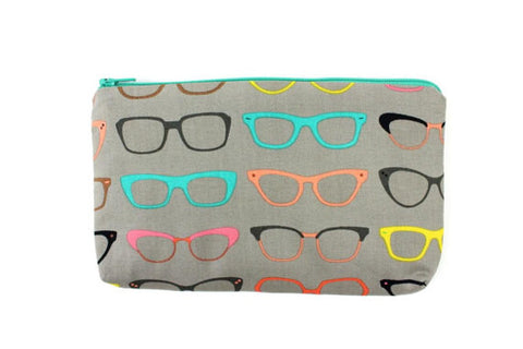 The Nerdy Glasses Wallet / Bag / Small Makeup Bag #W904