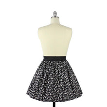Load image into Gallery viewer, Cute Cacti A-line Pleated Skirt In Black