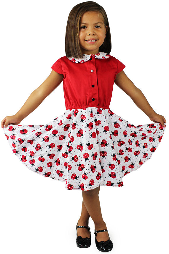 Girl's Lady Bug Dress #LBD