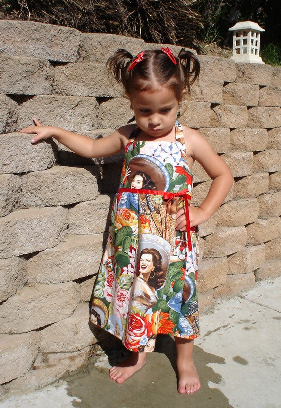 Girls Senoritas Rockabilly Dress #GD-S400
