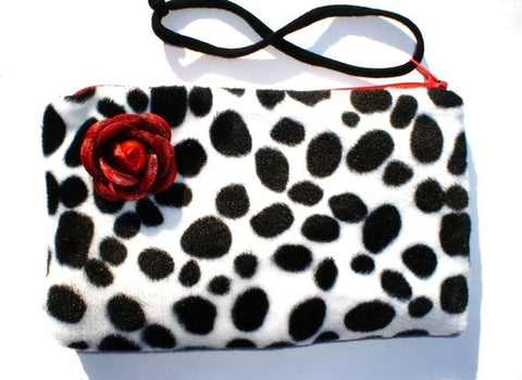 Dalmation Faux Fur Wallet wrist-let #DFW