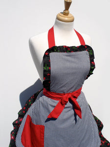 Gingham and Cherries Full Apron #A920
