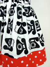Load image into Gallery viewer, Vintage Telephones Girl's Skirt #GS-801