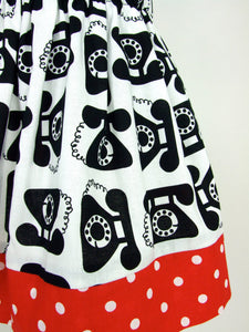 Vintage Telephones Girl's Skirt #GS-801
